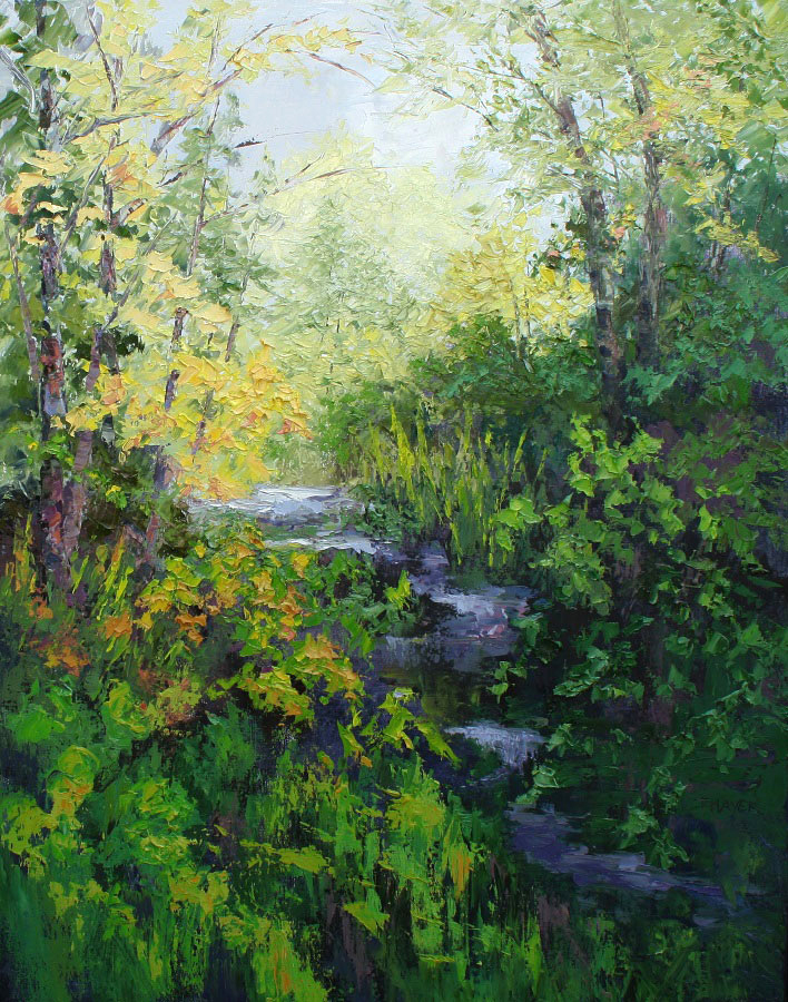 Pastel Painting by Kate Thayer, Flat Rock, NC