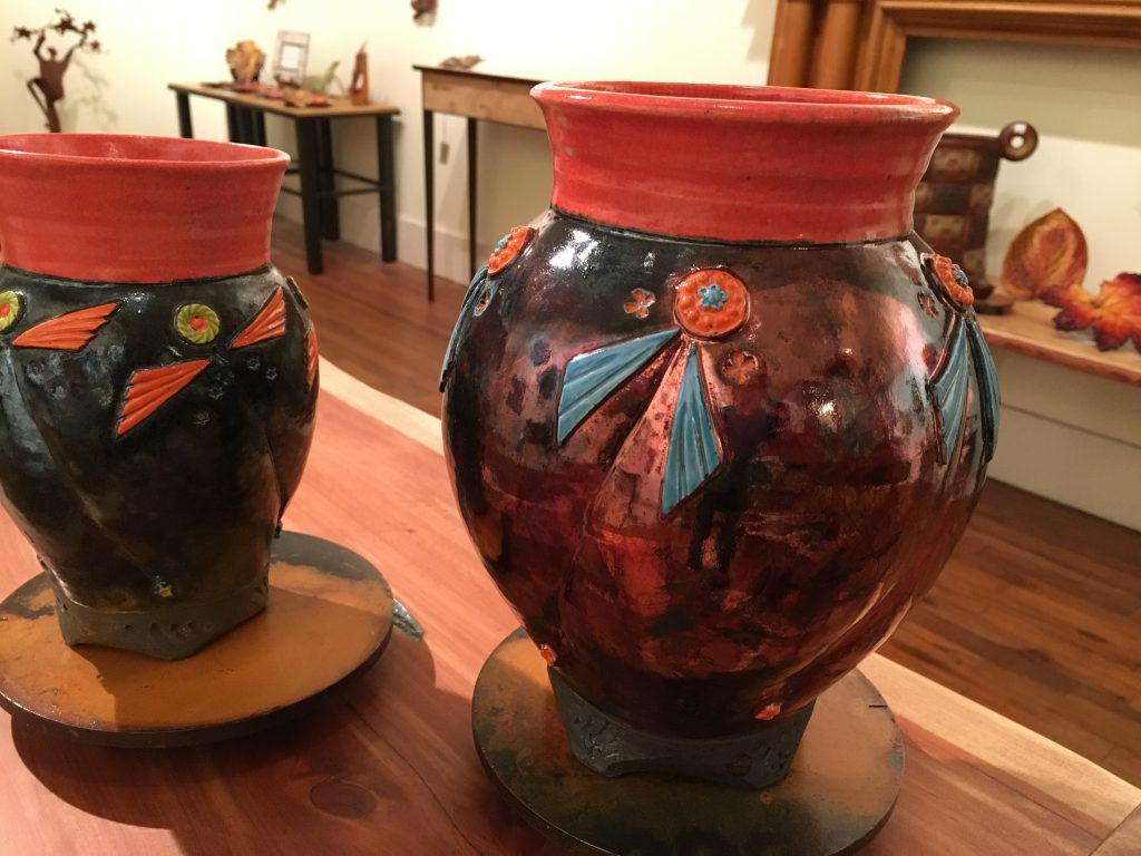 Raku Vases by David Stuart, North Augusta, SC