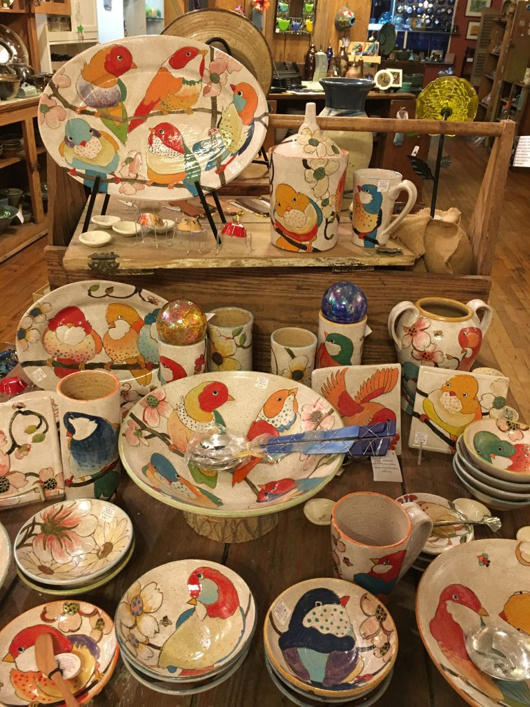 Bird Pottery by Three Wheel Studio, Providence, RI