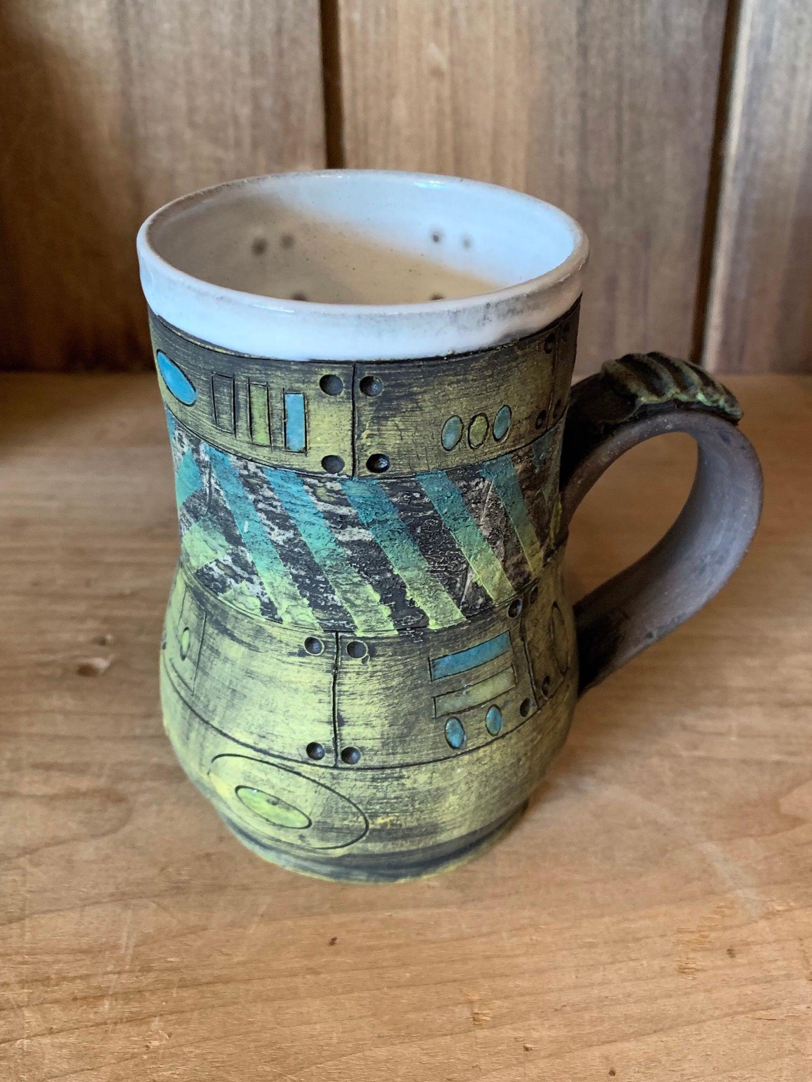 Textural Art Ceramic Mug Seven Sisters Craft Gallery